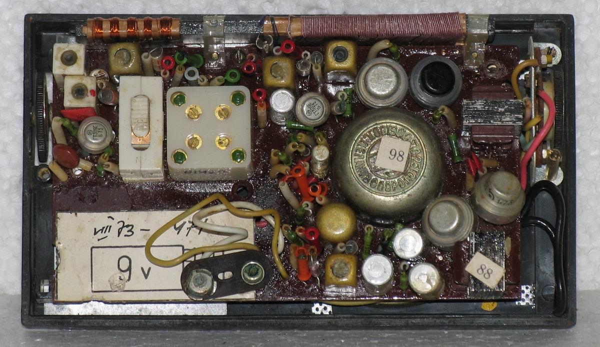 схема радиоприёмника сокол 308